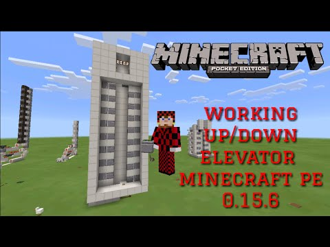How to make up and down piston elevator v.2 redstone tutorial minecraft: pocket edition 1.2.8