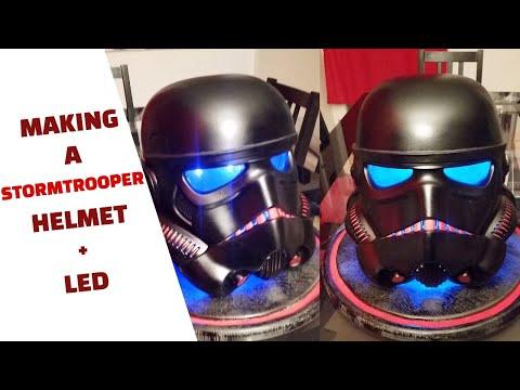 Making a Star Wars Stormtrooper helmet + light mod