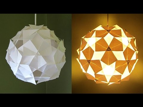 DIY pendant lampshade (clover pattern) - home and room decor - EzyCraft