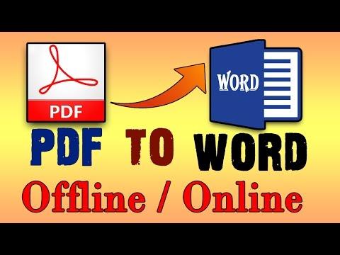 How To Convert PDF To Word Online & Offline Method [HINDI/URDU)