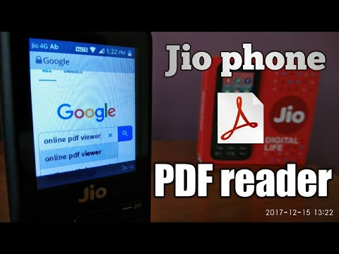 Jio Phone : How to open PDF file