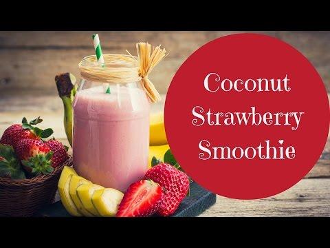 Creamy Coconut Strawberry Smoothie