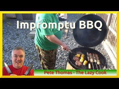 Chicken Shashlik Kebabs on the Barbecue