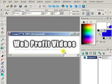 Outlining Text with Paint Shop Pro