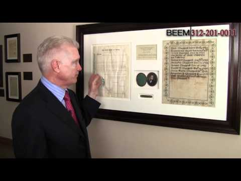 Cloth Making Patent Signed by Thomas Jefferson - Chicago Patent Attorney Rich Beem Describes