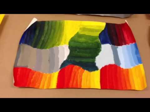 Gloria Rabinowitz High School Art Lesson: Mixing Primary and Secondary Colors