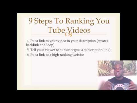You Tube Videos Ranked On The First Page In Minutes!   Rank A You tube Video In 9 Easy Steps Fast