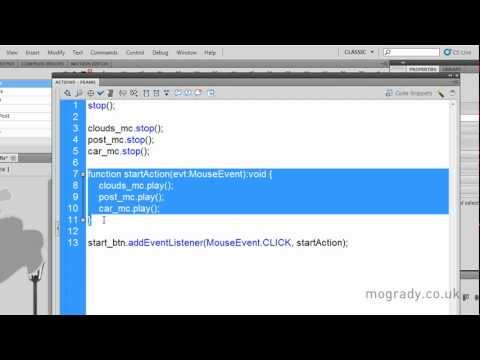 Flash CS5, MovieClip Control with ActionScript Tutorial