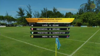 Asia Rugby Women 7s Trophy | Day 1 | 201018 | Live from Panaga Club, Brunei Darussalam