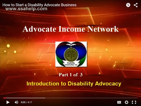 How to Start a Disability Advocate Service - Part 1