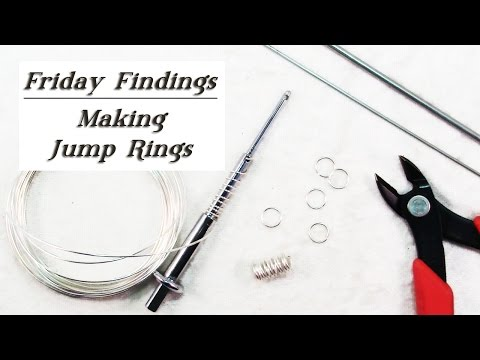 DIY Jump Rings-Use Any Color & Size Wire To Make Your Own Custom Jump Rings-Friday Findings