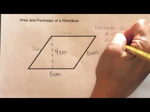 How to find the Area and Perimeter of a Rhombus