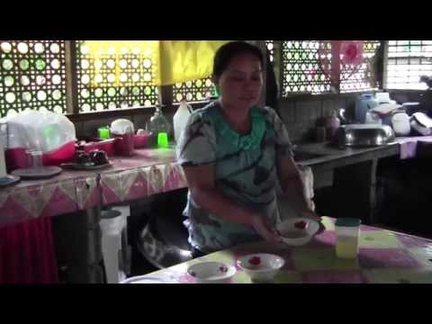 Rice Cake cooking recipe from Camiguin, Philippines: How to make Bibinka