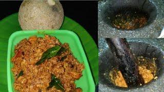వెలక్కాయ రోటి పచ్చడి || Wood Apple Chutney || Velakkaya Roti Pachadi