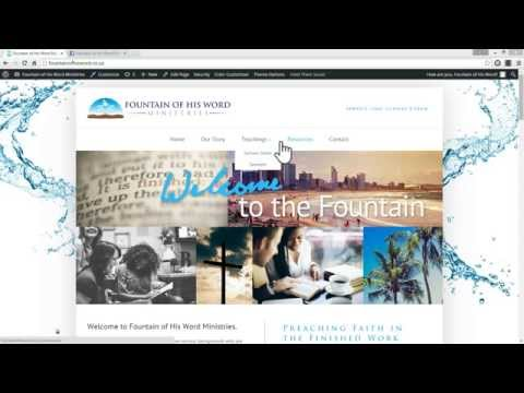 Fountains WordPress Website Tutorial 1 of 2