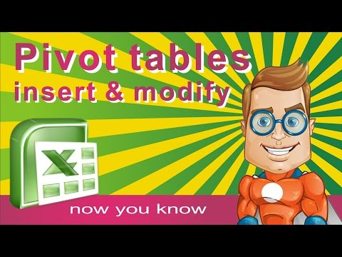 Make PIVOT TABLE in EXCEL- How to make, insert and modify Pivot table - Tutorial