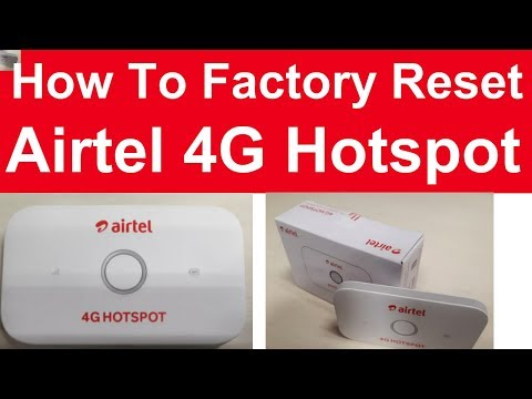 How to Factory reset and password and username reset for airtel 4G HOTSPOT 2018