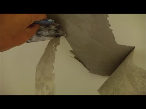 Paint peeling off the ceiling and walls