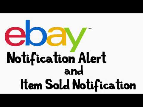 eBay Notification Alert And Item Sold Notification Alert (Watch Item Alert, Cha Ching Sound Effect)