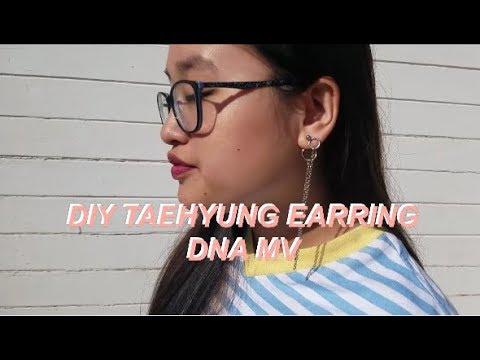 [DIY] BTS V DANGLING EARRING // DNA MV(*´▽`*)