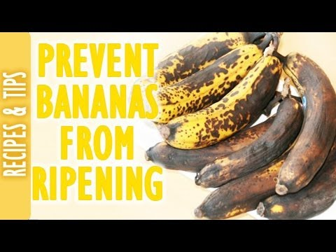 How to keep your bananas from ripening