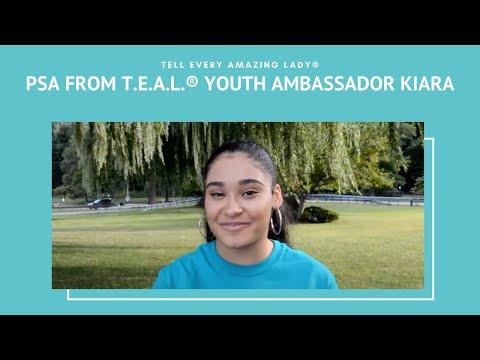 T.E.A.L.® Youth Ambassador Kiara Carrion Ovarian Cancer PSA