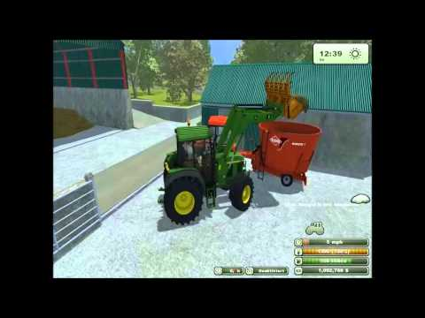 feeding the cows on farming simulator 2013