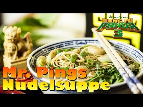KUNG FU PANDA 3 - Mr. Pings Nudelsuppe & Gewinnspiel / Asiatische Hausgemachte vegetarische Suppe