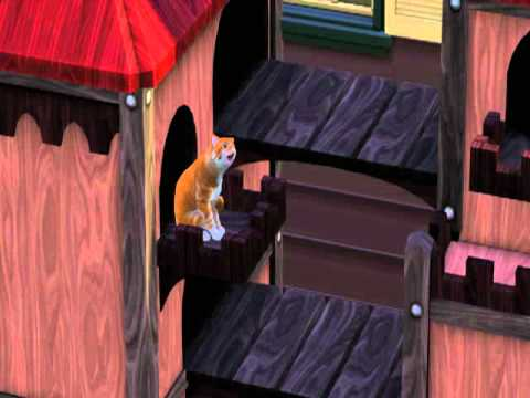 Sims 3 pets-Cat playing in cat house