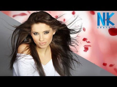 Photoshop cc Hindi Tutorials, Hair Cutout & Remove Background | Wispy Hair Extraction (NKGraphicx)