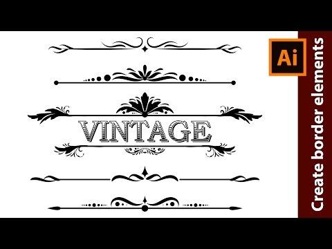 How to Design Vintage Border Elements in Adobe Illustrator