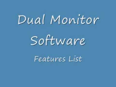 Dual Monitor Software