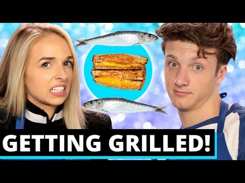 SARDINE GRILLED CHEESE CHALLENGE W/ JennxPenn + ALL NIGHT CAST! | Gettin' Grilled