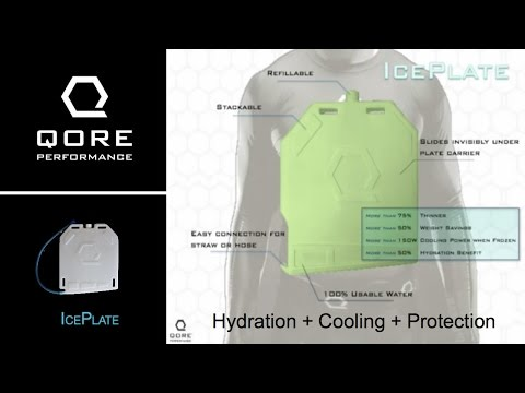 IcePlate: The revolutionary cooling water bottle that helps stop bullets.