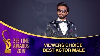 Ranveer Singh for Padmaavat | Viewers Choice Best Actor Male | Zee Cine Awards 2019