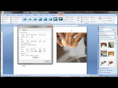 Working with pictures in Microsoft Word 2007