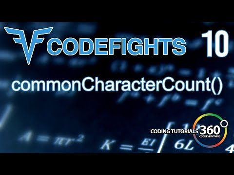 CommonCharacterCount   CodeFights Intro Algorithm JavaScript Solution and Breakdown