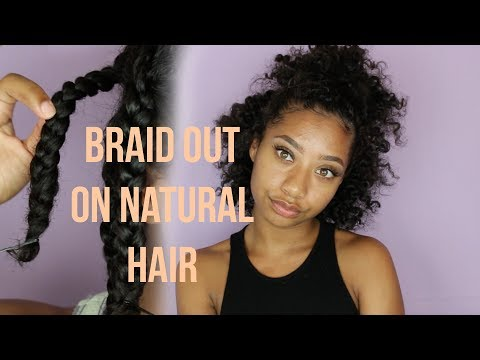 Braid Out on Natural Hair  Tatyana Celeste ❤︎