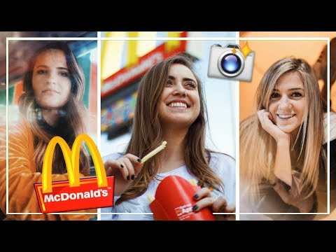 UGLY LOCATION PHOTOSHOOT CHALLENGE: McDonald's! | ft. Shelby Church & Adrienne Finch