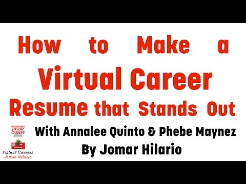 Virtual Assistant Resume: Get Tips In Making Your Virtual Career Resume