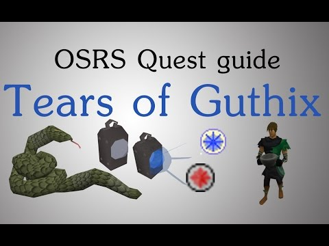 [OSRS] Tears of Guthix quest&mini-game guide