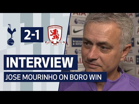 INTERVIEW | JOSE MOURINHO ON MIDDLESBROUGH FA CUP WIN