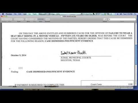 Ticket Dismissed for Lack of Evidence - Congrats Mike