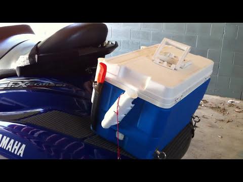 DIY jet ski fishing set-up for waverunner and jetskis 2005 yamaha fx cruiser high output