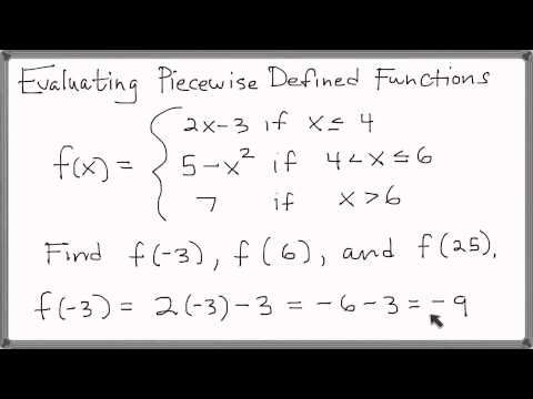 Evaluating a Piecewise Defined Function