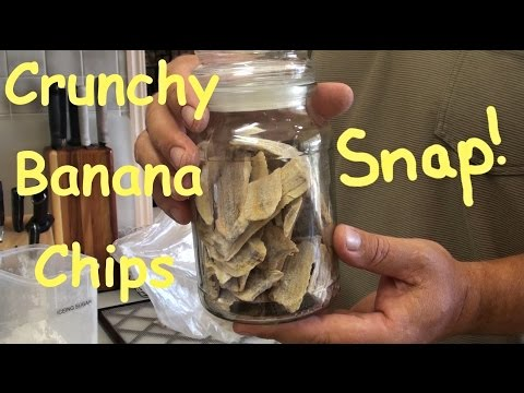 Tips On How to get Crunchy Banana Chips in Dehydrator