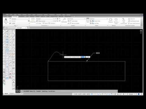 J  Creating an Architectural Spline Leader