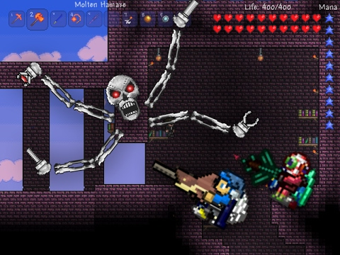 Terraria (IOS/ANDROID) | How to Summon And Defeat Skeletron Prime