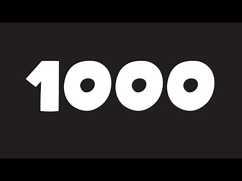 1000 Subscribers...