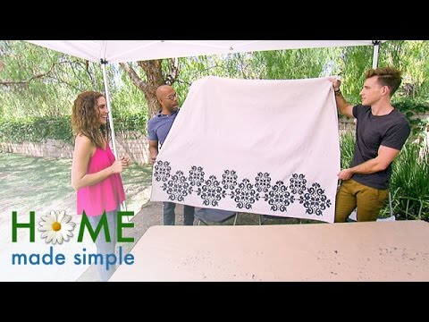Modernize Your Room with Stencil Drapes | Home Made Simple | Oprah Winfrey Network